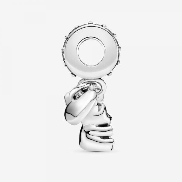 Pandora 792100CZ Charm-Anhänger Baby Teddybär Sterling Silber