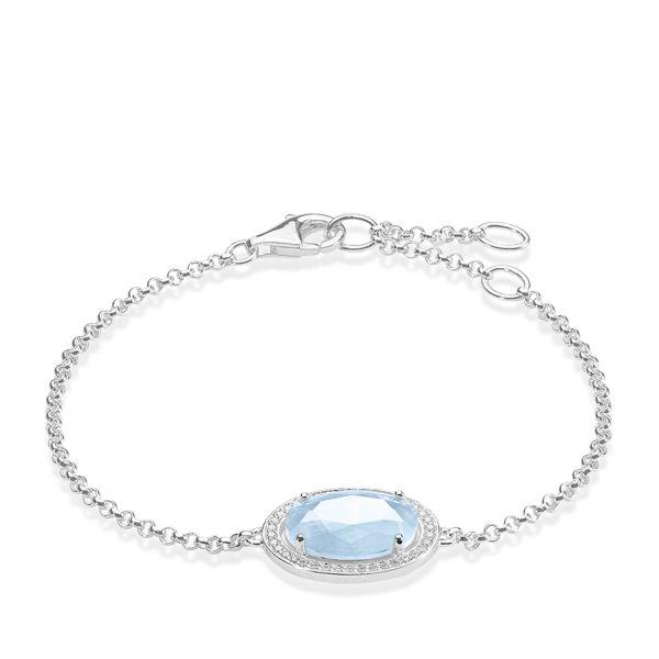 Thomas Sabo A1327-694-31 Armband Maharani Aquamarin Silber 19,5 cm