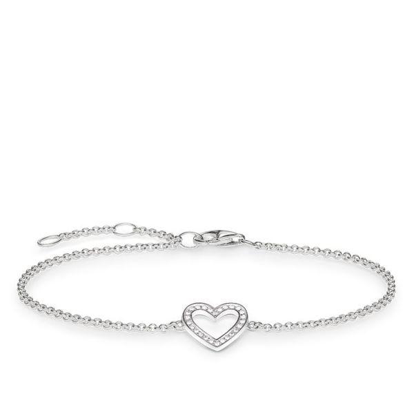 Thomas Sabo A1553-051-14 Armband Herz Silber 19,50 cm