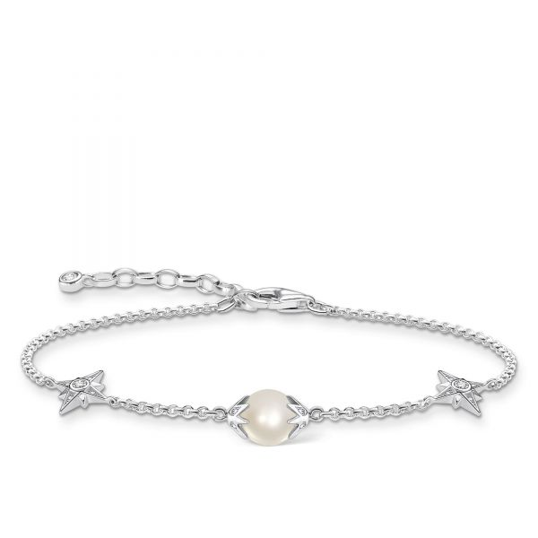 Thomas Sabo A1978-167-14 Armband Damen Perle mit Sternen Silber