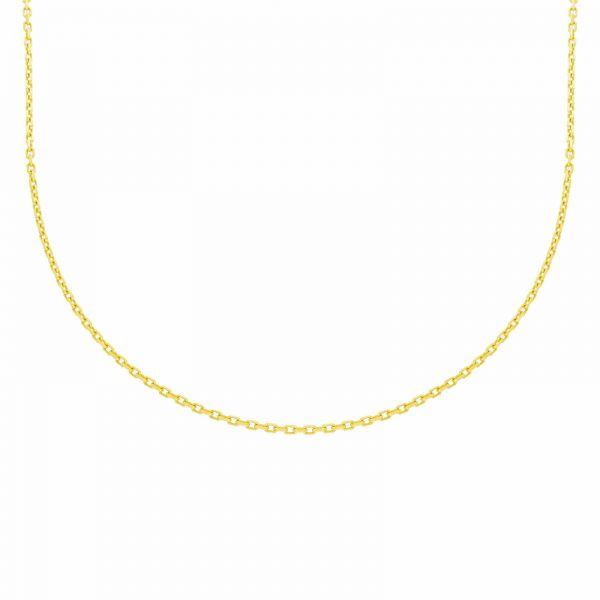 Karat 1.0440 Halskette Collier Damen Ankerkette Geschliffen 333er Gold