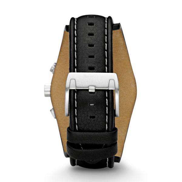 Fossil CH2564 Herren-Uhr Coachman Chronograph Quarz mit Leder-Band Ø 45 mm