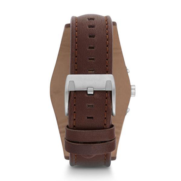 Fossil CH2891 Herren-Uhr Coachman Chronograph Quarz Leder-Band Ø 44 mm