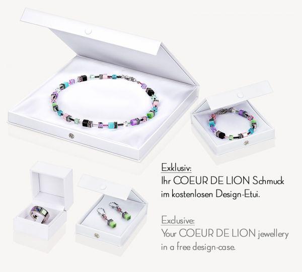 Coeur De Lion 4015/20-0730 Ohrringe GeoCUBE® Eisblau