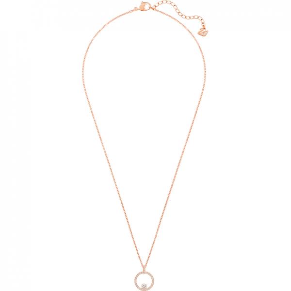 Swarovski 5202446 Kette mit Anhänger Damen Creativity Circle Weiss Rosé Vergoldet