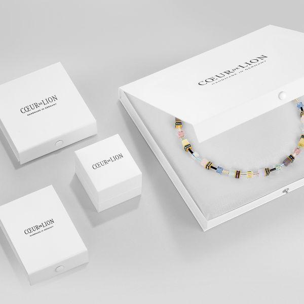 Coeur de Lion 5033/10-0720 Halskette Small Crystal Hellblau Edelstahl Roségold