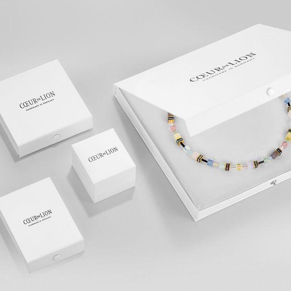 Coeur de Lion 4998/10-0829 Halskette Wasserfall Small Glas Flieder Edelstahl