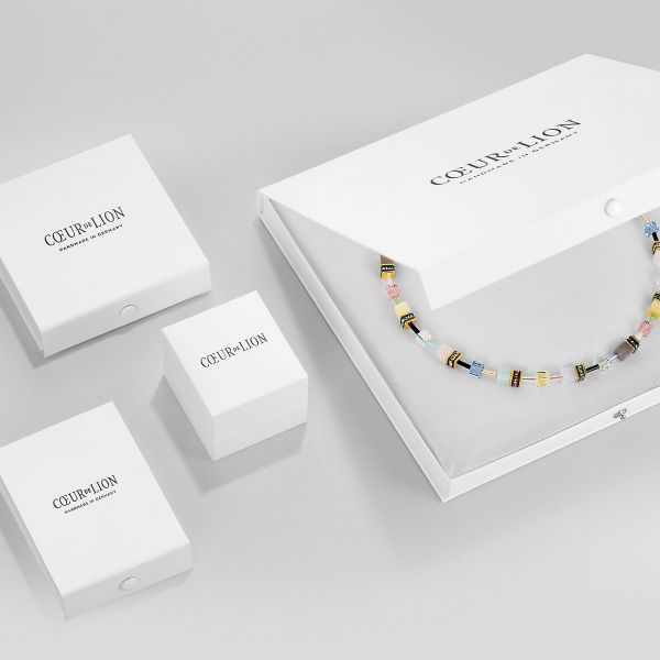 Coeur de Lion 5054/10-0824 Halskette Damen Magic Crystal & Chunky Chain Amethyst