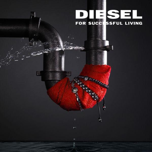 Diesel DZ1819 Herrenuhr Armbar Silicone Analog Quarz mit Silkon-Band Ø 45 mm
