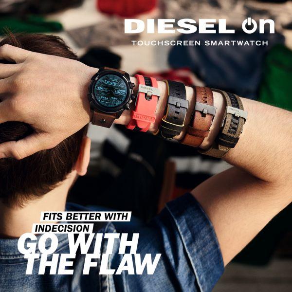 Diesel DZ4204 Herren-Uhr Chronograph Analog mit Leder-Band