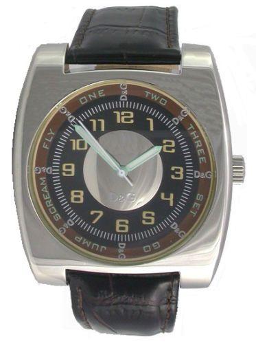 Dolce&Gabbana DW0127 Herren-Uhr Analog Quarz mit Leder-Band Ø 45,8x43,3 mm