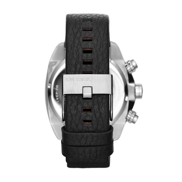 Diesel DZ4341 Herrenuhr Overflow Chronograph Quarz Leder-Band Ø 49 mm