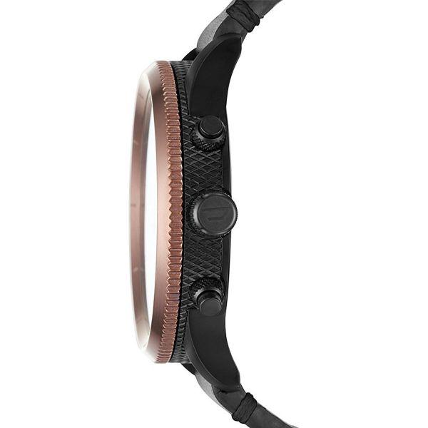 Diesel DZ4445 Herren-Uhr Rasp Chronograph Leder Ø 50 mm