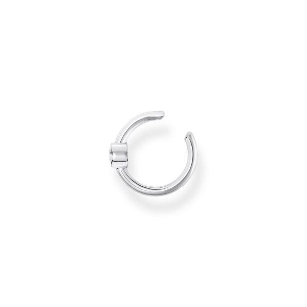 Thomas Sabo EC0018-051-14 Ohrklemme Einzel Damen Weißer Stein Sterling-Silber