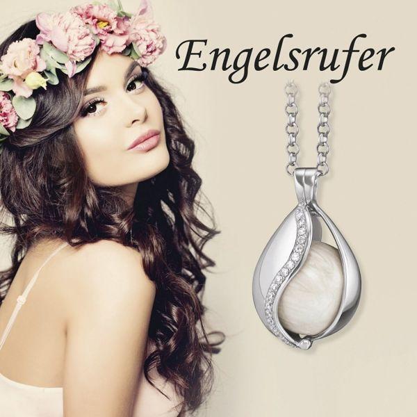 Engelsrufer ERE-LISA-ZI-CR Creolen Ohrringe Damen Lisa Cyrstal Sterling-Silber