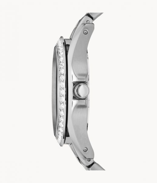 Fossil ES3202 Damenuhr Riley Multifunktion Quarz Edelstahl Silber Ø 38 mm