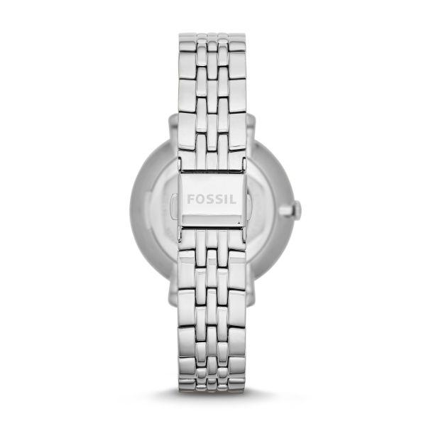 Fossil ES3433 Damen-Uhr Jacqueline Analog Quarz mit Edelstahl-Band Silber Ø 36 mm