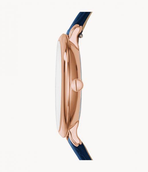 Fossil ES3843 Damen-Uhr Jacqueline Analog Quarz mit Leder-Band Ø 36 mm