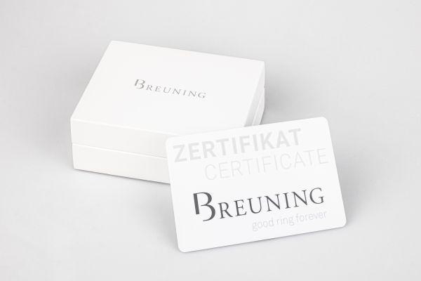 Breuning 41/85942 Ring Brillant 0,20 ct W-si 14 kt Weissgold