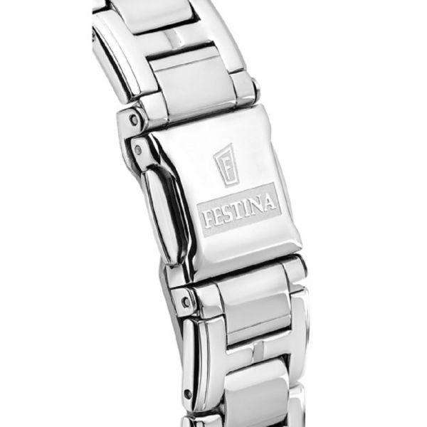 Festina F20401/4 Damen-Uhr Boyfriend Analog Quarz Edelstahl-Armband