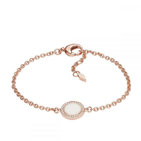 Fossil JF02662791 Armband Classics Damen Stone Glitz Chain Rosé-Ton