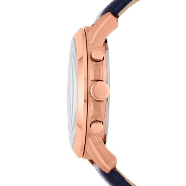 Fossil FS4835 Herren-Uhr Grant Chronograph Quarz Leder Rosé Ø 43 mm