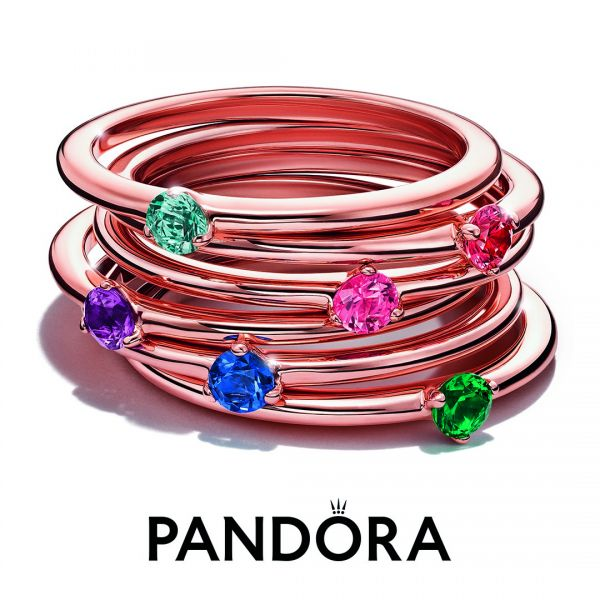 Pandora Rose 189259C01 Solitär-Ring Damen Roter Stein