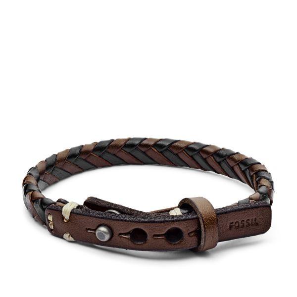 Fossil JA5932716 Armband Herren Leder Schwarz Braun