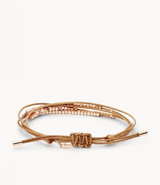 Fossil JA6422791 Damen Armband Dainty Rondel Slider Leder