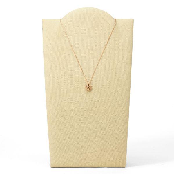 Fossil JF01156791 Halskette mit Anhänger Damen Glitz Heart Rosé