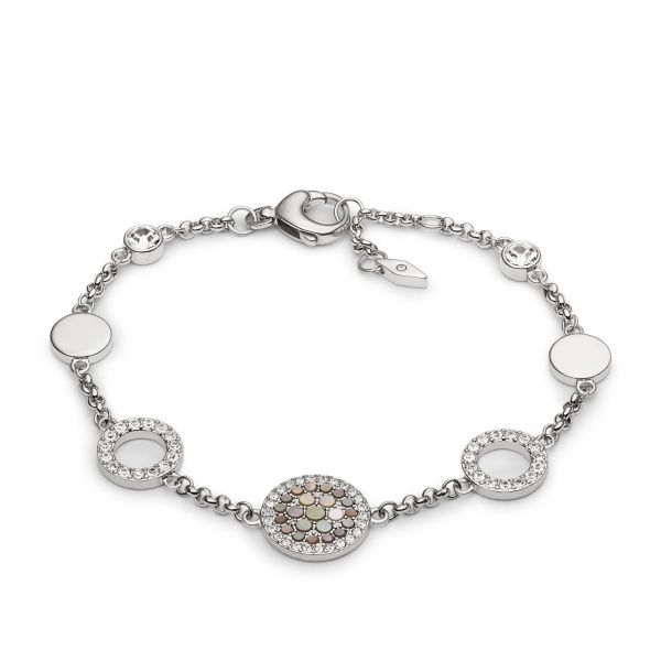Fossil JF02311040 Armband Damen Vintage Glitz Crystal Silber-Ton
