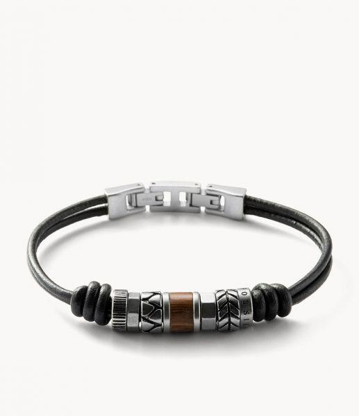 Fossil JF84196040 Armband Herren Rondeln Leder Edelstahl