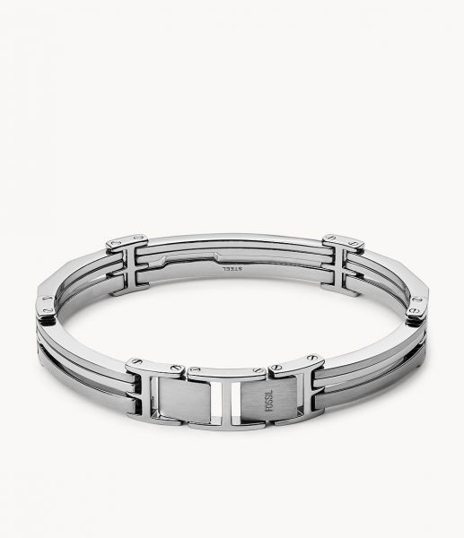 Fossil JF84283040 Herren Armband Edelstahl-Glieder Silber