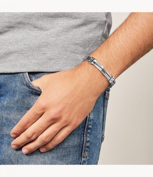 Fossil JF84883040 Armband Herren Edelstahl-Glieder Silber