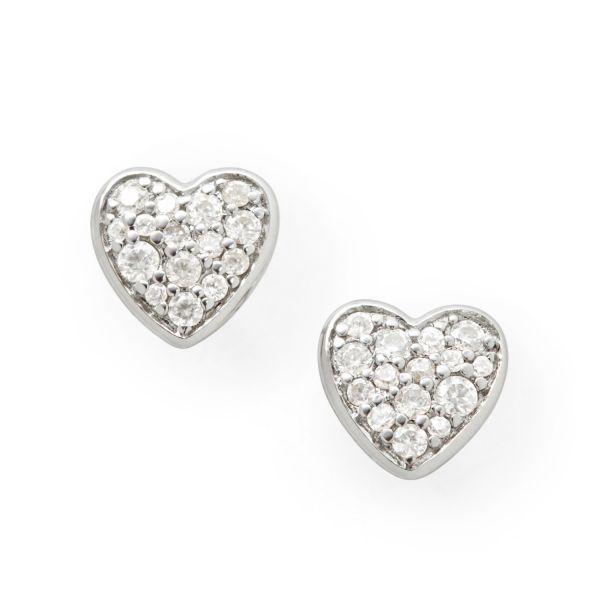 Fossil JFS00151040 Ohrringe Ohrstecker Damen Heart Sterling-Silber