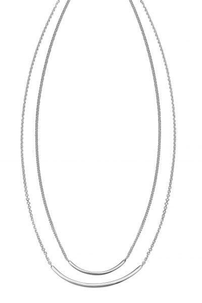 JOOP! JPNL90768A420 Halskette Damen Doppelt Travel Refined Silber