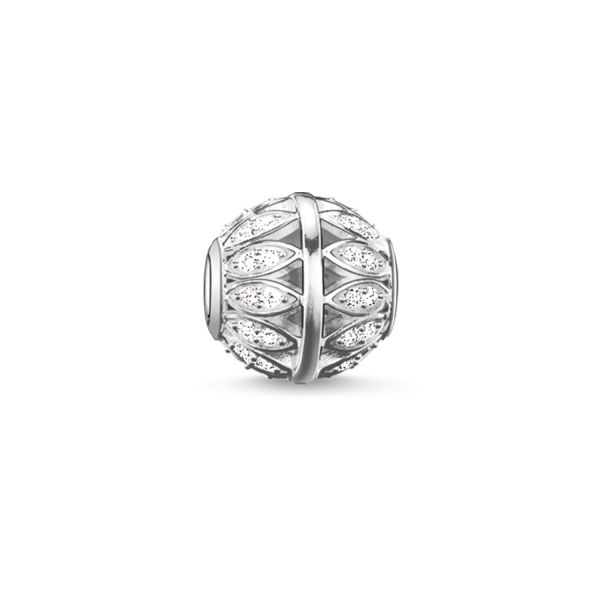 Thomas Sabo K0095-051-14 Karma Bead Blätter Silber