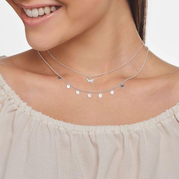 Thomas Sabo KE2097-051-14 Halskette mit Anhänger Damen Libelle Weiss Silber