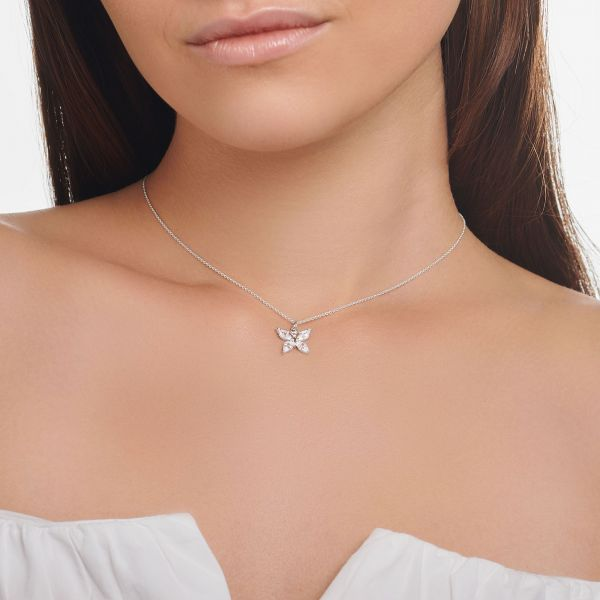 Thomas Sabo KE2102-051-14 Halskette mit Anhänger Schmetterling Weiss Silber