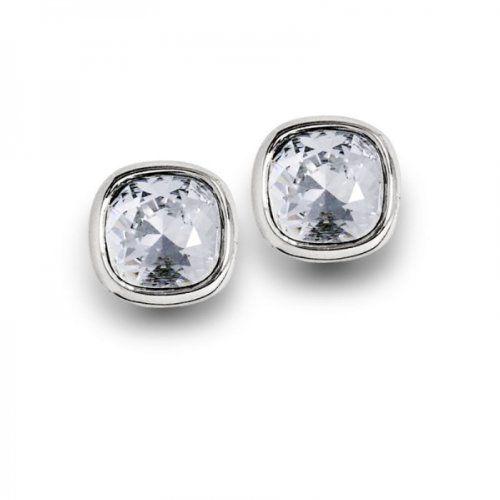 Yvette Ries Made with Swarovski Ohrringe Ohrstecker Damen Sterling-Silber Rhodiniert