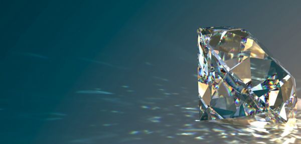 Diamond Group 2F028W4 Ohrstecker V-Zarge 2 Brillanten 0,20 ct 14 kt 585/- WG
