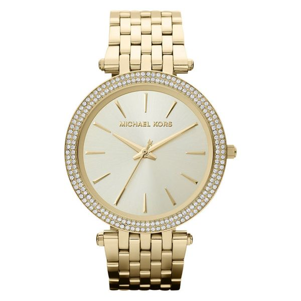 Michael Kors MK3191 Damen-Uhr Darci Quarz mit Edelstahl-Armband