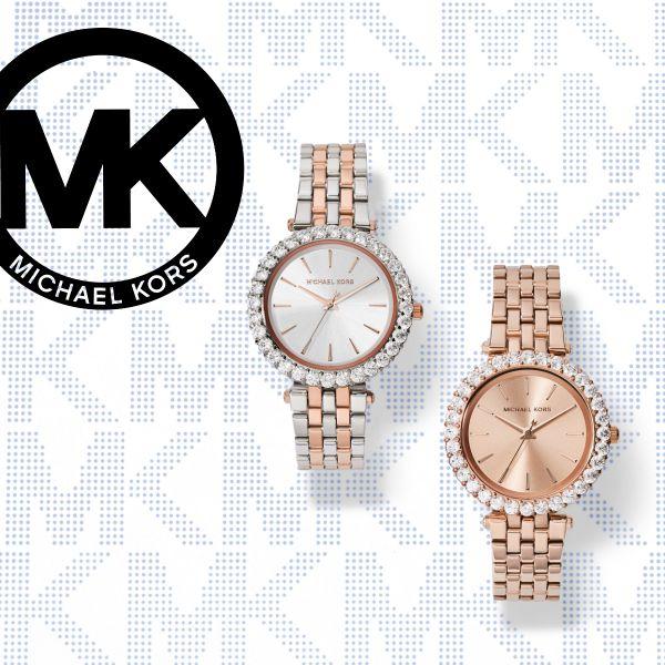 Michael Kors MK3900 Damen-Uhr Lauryn Analog Quarz Edelstahl-Band