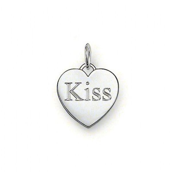 Thomas Sabo PE437-001-12 Ketten-Anhänger Herz Kiss Sterling-Silber