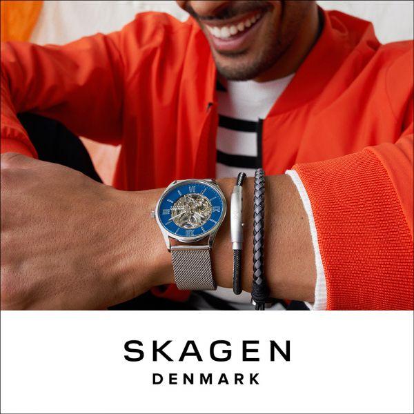 Skagen SKW6577 Herren-Uhr Signatur Analog Qaurz Milanaise Edelstahl-Band