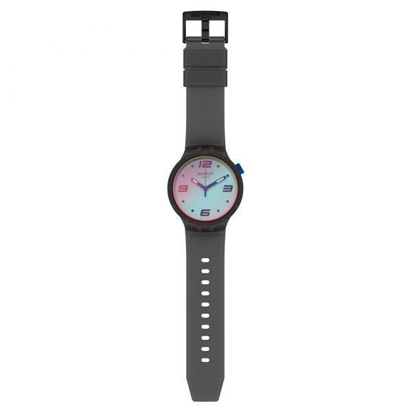 Swatch SO27B121 Armband-Uhr Futuristic Grey Analog Quarz Silikon-Armband