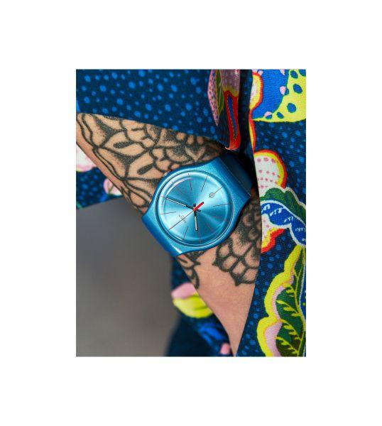 Swatch SUOS401 Armband-Uhr Lagoonazing Analog Quarz Silikon-Armband