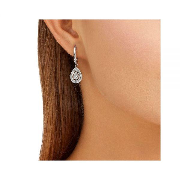 Swarovski 5197458 Ohrringe Damen Attract Light Pear Silber-Ton