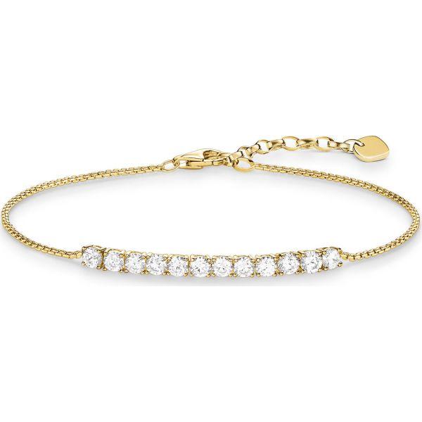 Thomas Sabo A1540-414-14 Armband Damen Klassik Sterling-Silber Vergoldet 19,5 cm