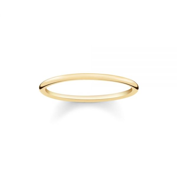 Thomas Sabo TR2123-413-12 Zarter Band-Ring Damen Sterling-Silber Vergoldet